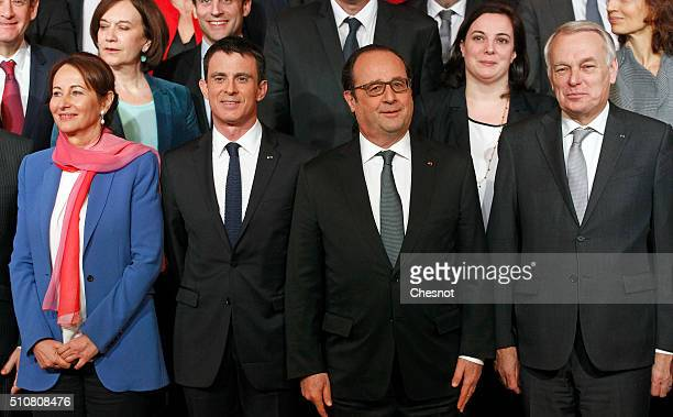 French minister for Ecology Sustainable Development and Energy Segolene Royal Prime minister Manuel Valls President Francois Hollande Foreign...