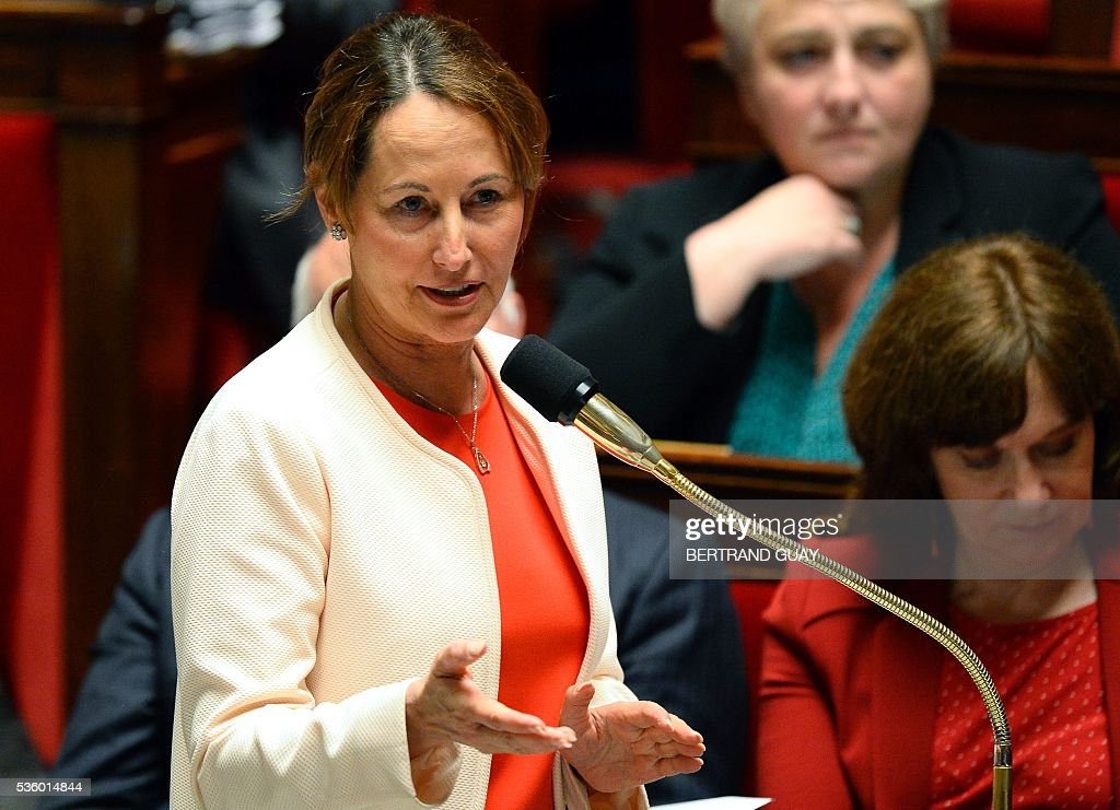 French Minister for Ecology, Sustainable Development and Energy Segolene Royal speaks during a session of questions to the Government at the French National Assembly in Paris, on May 31, 2016.