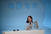French minister for Ecology Sustainable Development and Energy Segolene Royal speaks during a ceremony marking the first anniversary of the 'energy...