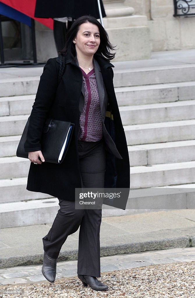 French Minister for Equality of Territories and Housing, Cecile Duflot leaves the Elysee Palace after the weekly cabinet meeting on January 3, 2014, in Paris, France. The cabinet meeting is the first of the year 2014.