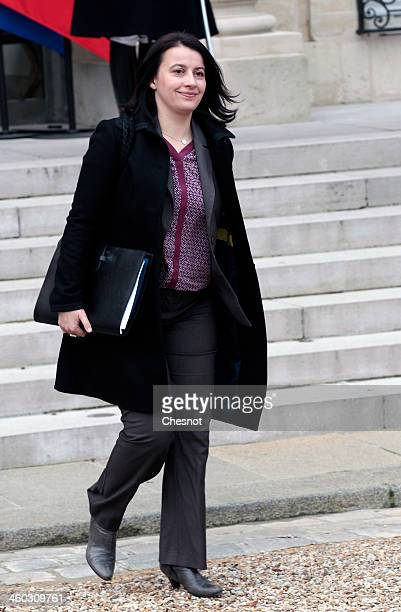 French Minister for Equality of Territories and Housing Cecile Duflot leaves the Elysee Palace after the weekly cabinet meeting on January 3 in Paris...