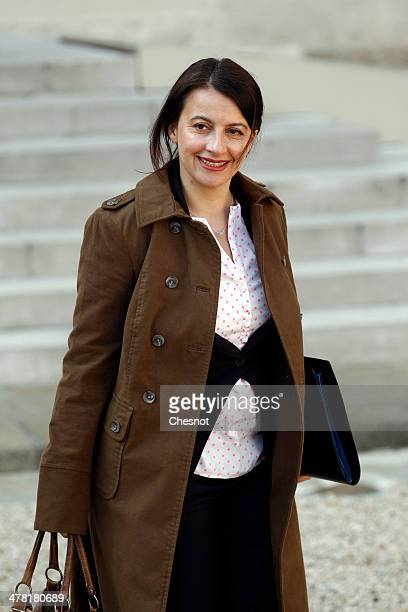 French Minister for Equality of Territories and Housing Cecile Duflot leaves after the weekly cabinet meeting at the Elysee palace on March 12 2014...