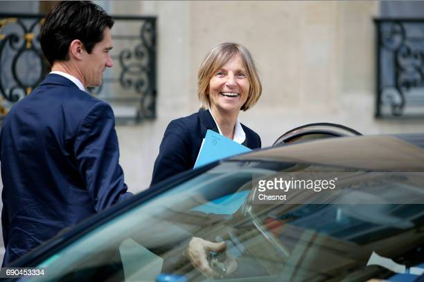 French Minister for European Affairs Marielle de Sarnez leaves the Elysee Presidential Palace after a weekly cabinet meeting on May 31 2017 in Paris...