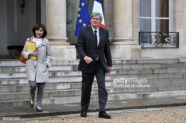 French minister for Family children and Women's Rights Laurence Rossignol and French Agriculture minister and Government spokesperson Stephane Le...