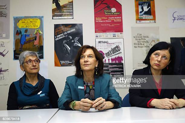 French minister for Family children and Women's Rights Laurence Rossignol and EU Commissioner for Justice Consumers and Gender Equality Vera Jourova...