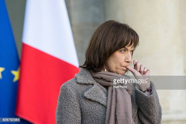 French minister for Family children and Women's Rights Laurence Rossignol leaves at the end of the weekly cabinet meeting at the Elysee Palace in...