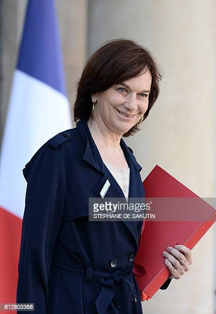 French Minister for Family Children and Women's Rights Laurence Rossignol leaves the Elysee presidential palace in Paris following a cabinet meeting...