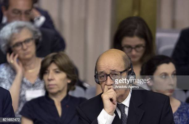 French Minister for Foreign and European Affairs JeanYves Le Drian attends the12th Conference of the Ambassadors of Italy at the Farnesina Italian...