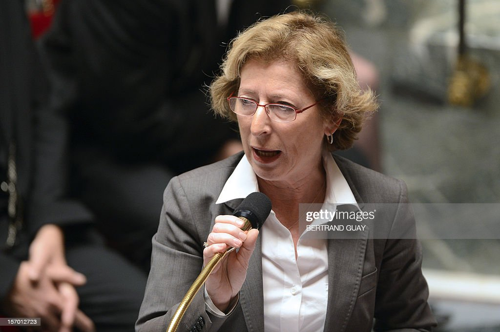 French Minister for Higher Education and Research Genevieve Fioraso speaks during the weekly session of questions to the government on November 27, 2012 at the National Assembly in Paris.