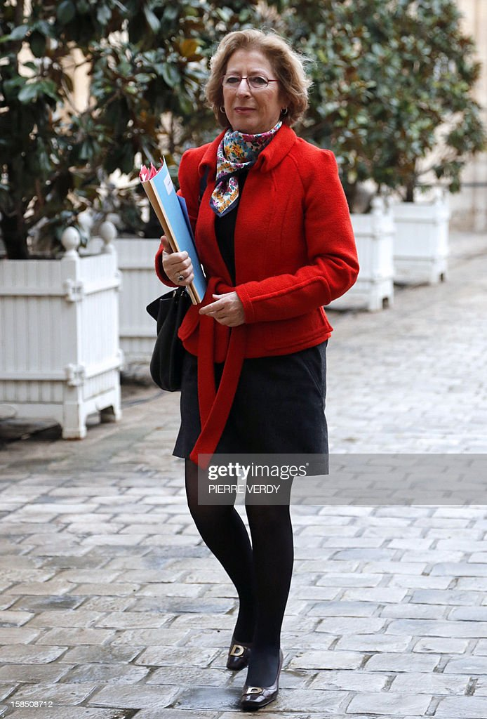 French Minister for Higher Education and Research, Genevieve Fioraso arrives to attend an Interministerial Committee for the modernisation of France's public action, on December 18, 2012 at France's Prime minister official residence, Hotel Matignon, in Paris. AFP PHOTO PIERRE VERDY
