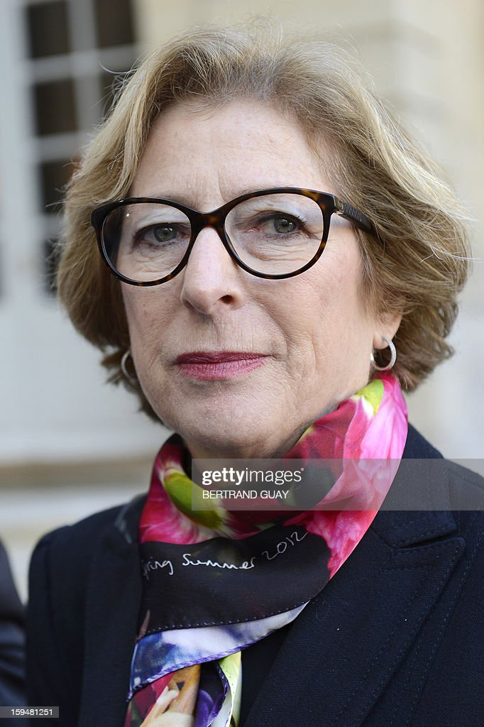 French Minister for Higher Education and Research Genevieve Fioraso speaks to journalists about the report focused on higher education and research handed over to French Prime Minister, on January 14, 2013 at the Hotel Matignon in Paris.