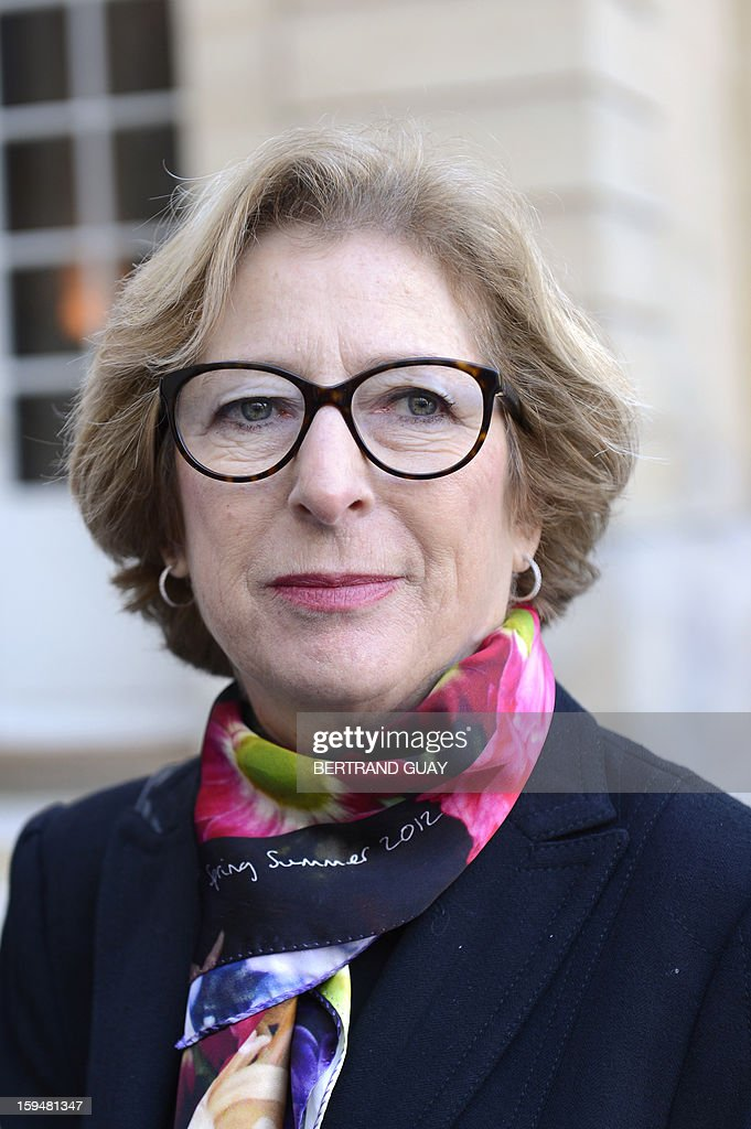 French Minister for Higher Education and Research Genevieve Fioraso speaks to journalists about the report focused on higher education and research handed over to French Prime Minister, on January 14, 2013 at the Hotel Matignon in Paris. AFP PHOTO / BERTRAND GUAY