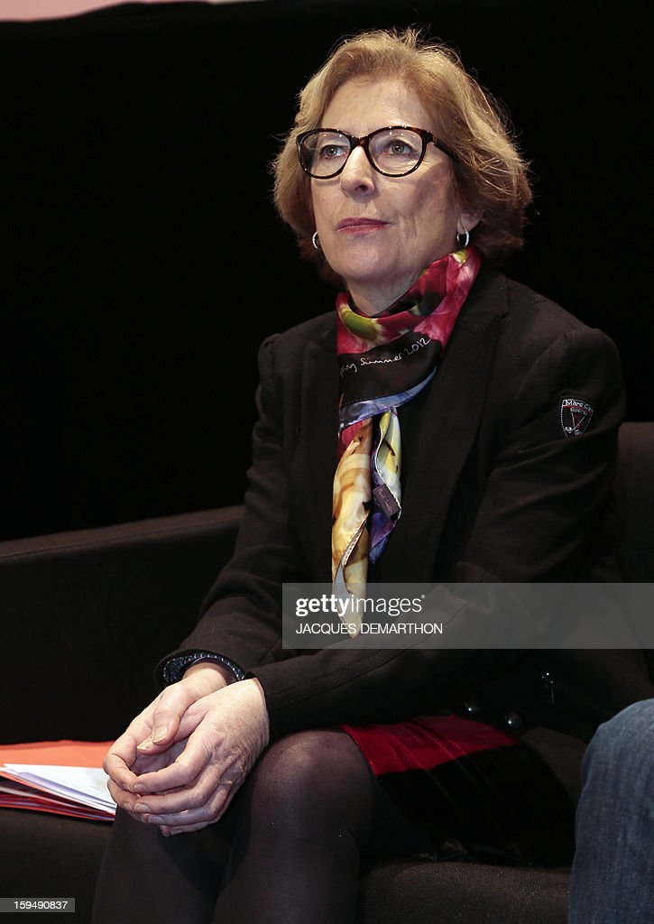 French Minister for Higher Education and Research Genevieve Fioraso attends a debate upon student success, on January 14, 2013, at Paris Diderot University, ahead of French government's draft law on higher education and research.