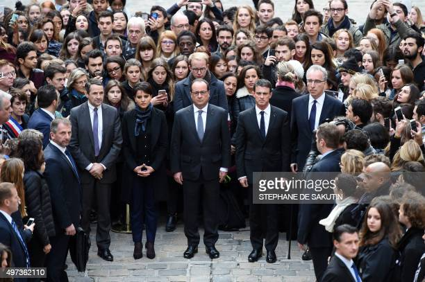 French Minister for Higher Education and Research Thierry Mandon French Education Minister Najat VallaudBelkacem French President Francois Hollande...