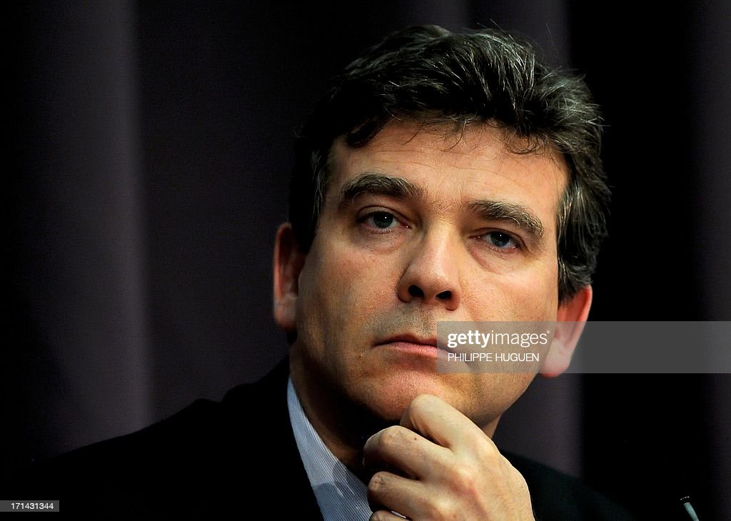 French minister for Industrial Renewal Arnaud Montebourg attends a press conference at Lille's technology hub Euratechnologies, northern France, on June 24, 2013 to announce the opening of a new IBM service center in Lille.