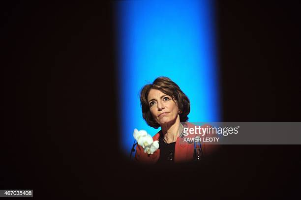 French minister for Social Affairs Health and Women's Rights Marisol Touraine attends the opening of the 4th Congress of the FFMPS on March 20 2015...