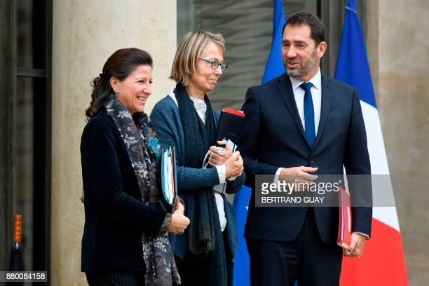 French Minister for Solidarity and Health Agnes Buzyn French Culture Minister Francoise Nyssen and French Junior Minister for the Relations with...