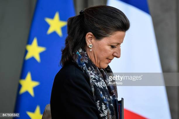 French Minister for Solidarity and Health Agnes Buzyn leaves the Elysee presidential Palace after a cabinet meeting on September 14 2017 in Paris