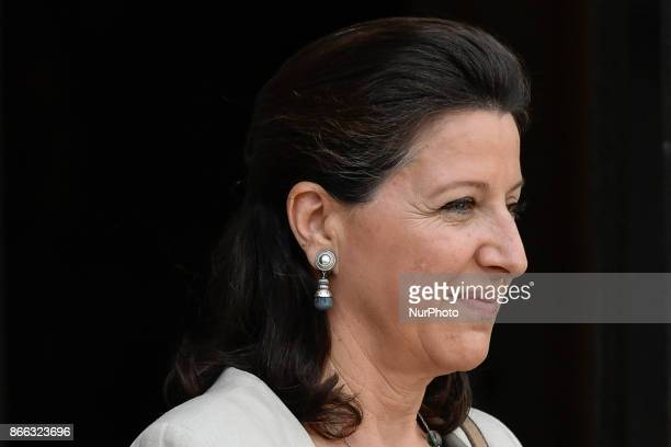 French Minister for Solidarity and Health Agnes Buzyn leaves the Elysee Presidential Palace after the weekly cabinet meeting in Paris October 25 2017
