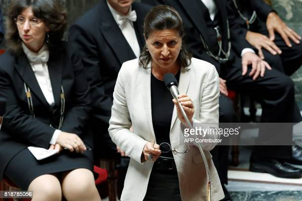 French Minister for Solidarity and Health Agnes Buzyn speaks during a session of questions to the government at the French National Assembly in Paris...