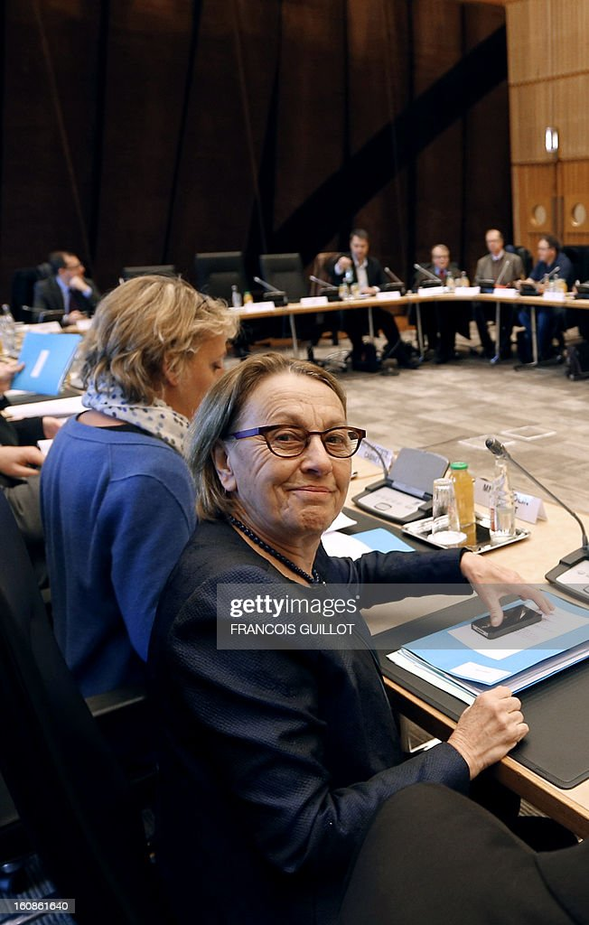 French Minister for State Reform, Decentralisation and Public Administration, Marylise Lebranchu poses on February 7, 2013 in Paris prior to a roundtable meeting focused on wages with representatives of civil servants' unions. AFP PHOTO FRANCOIS GUILLOT