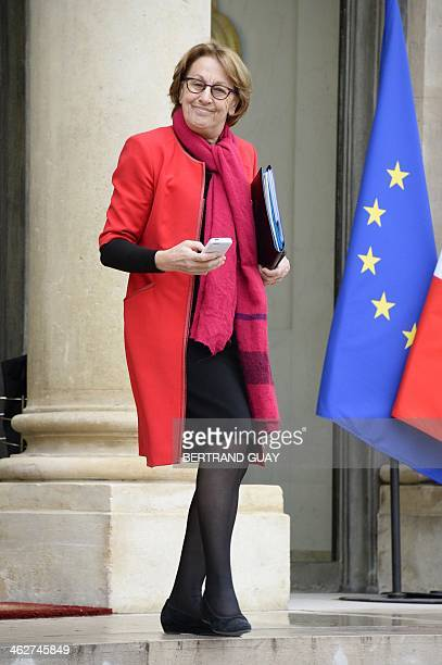 French Minister for State Reform Decentralisation and Public Administration Marylise Lebranchu leaves the Elysee presidential palace in Paris after a...
