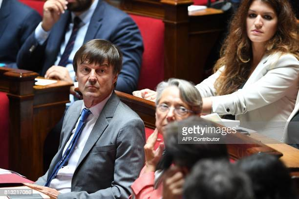French Minister for the Ecological and Inclusive Transition Nicolas Hulot French Transports Minister Elisabeth Borne and French Junior Minister for...