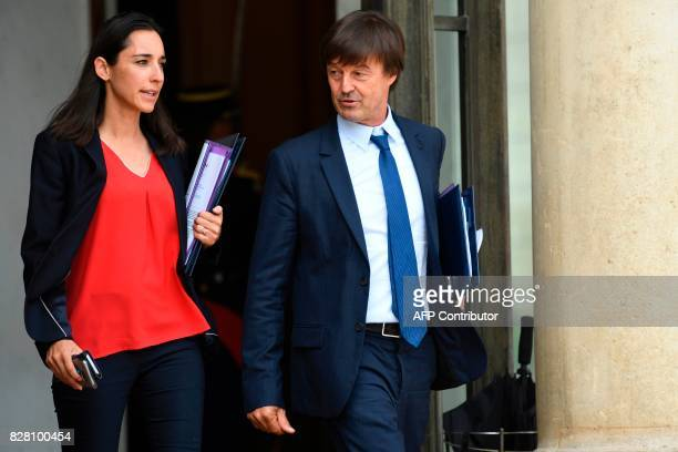French Minister for the Ecological and Inclusive Transition Nicolas Hulot and French Minister attached to the Minister of Ecological and Inclusive...