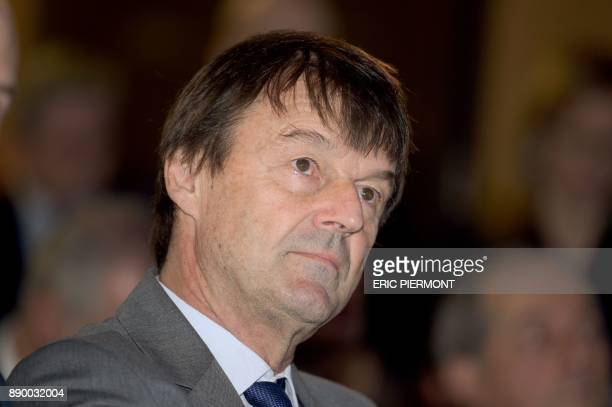 French Minister for the Ecological and Inclusive Transition Nicolas Hulot attends the French Business Climate Pledge event at the French Employers...
