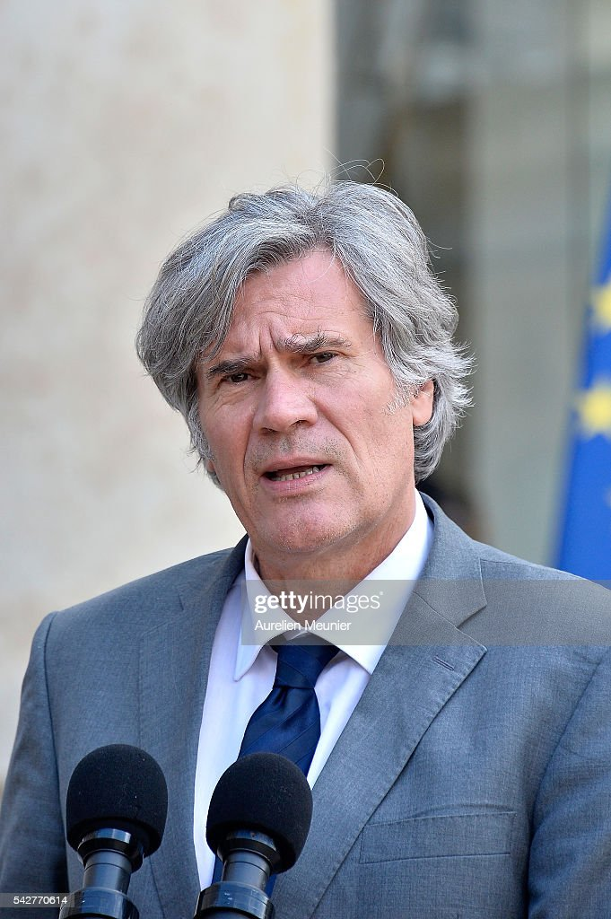 French Minister of Agriculture and Forestry, Gouvernment Spokesman Stephane Le Foll addresses the press after an exceptional cabinet meeting following the results of the UK EU Referendum vote at the Elysee Presidential palace on June 24, 2016 in Paris, France. The United Kingdom has voted to leave the EU in a European Union (EU) referendum. British Prime Minister David Cameron announced his resignation now that the majority of British voters decided to leave the European Union.