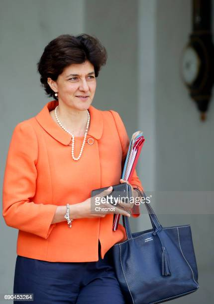 French Minister of Armed Forces Sylvie Goulard leaves the Elysee Presidential Palace after a weekly cabinet meeting on May 31 2017 in Paris France...