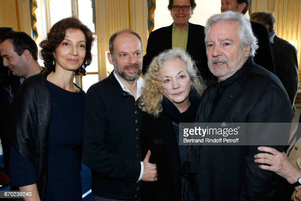 French Minister of Culture and Communication Audrey Azoulay Nominated for 'Moliere du Meilleur Comedien dans un spectacle de Theatre public' for 'Les...
