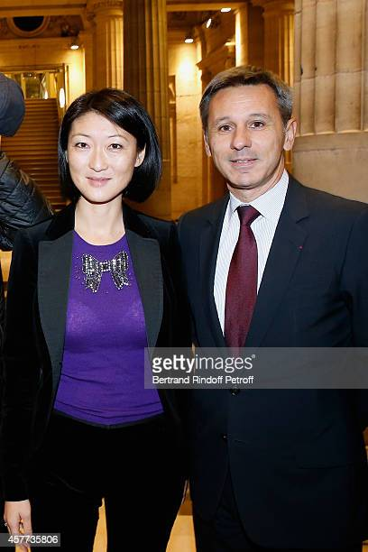 French minister of Culture and Communication Fleur Pellerin and President of Monnaie de Paris Christophe Beaux attend the Monnaie De Paris Reopening...
