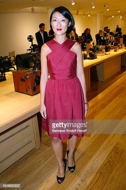 French minister of Culture and Communication Fleur Pellerin attends the 'Jerome Seydoux Pathe Foundation' Opening party on September 4 2014 in Paris...