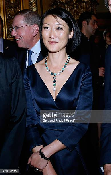 French minister of Culture and Communication Fleur Pellerin attends Star Dancer Aurelie Dupont says goodbye to the Paris Opera performing in...