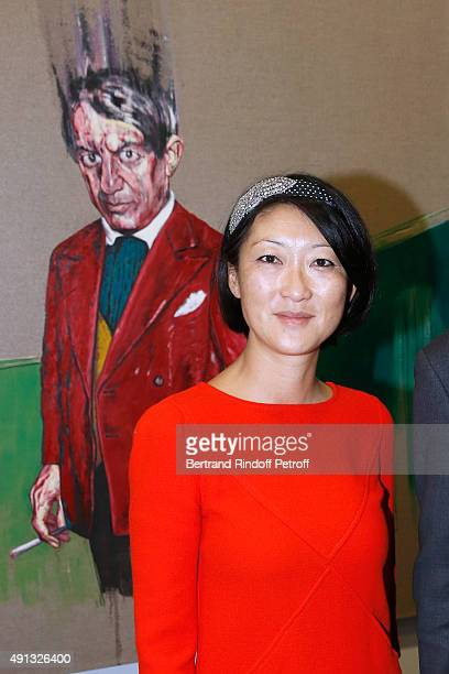 French minister of Culture and Communication Fleur Pellerin attends the 'Picasso Mania' Press Preview Held at Grand Palais on October 4 2015 in Paris...