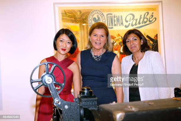 French minister of Culture and Communication Fleur Pellerin CEO of the 'Jerome Seydoux Pathe Foundation' Sophie Seydoux and Mayor of Paris Anne...
