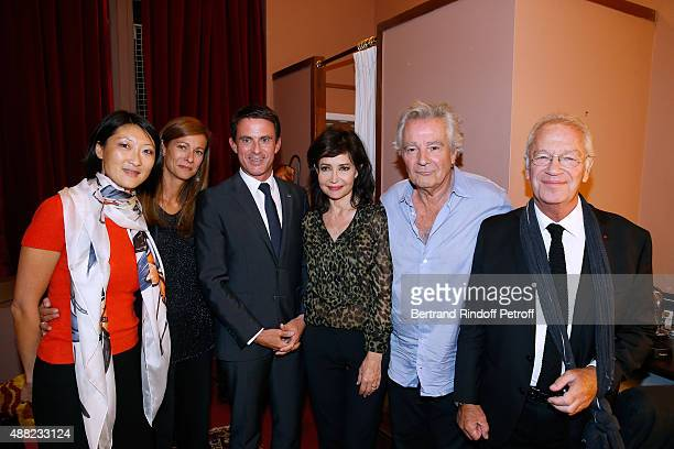 French minister of Culture and Communication Fleur Pellerin French Prime Minister Manuel Valls and his wife Violonist Anne Gravoin Actress of the...