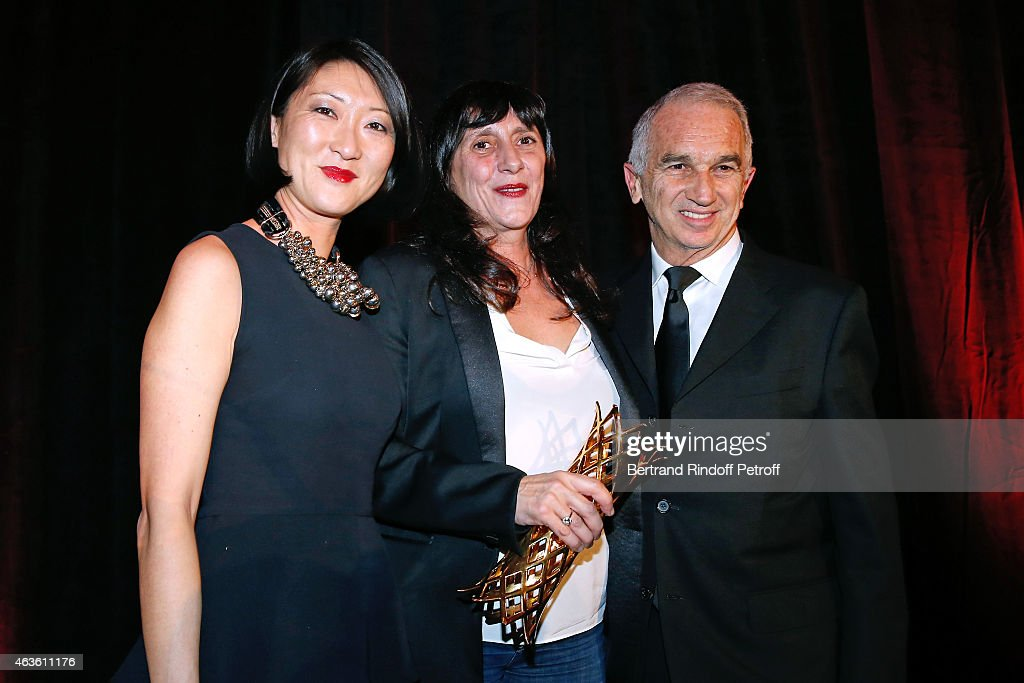French minister of Culture and Communication <a gi-track='captionPersonalityLinkClicked' href=/galleries/search?phrase=Fleur+Pellerin&family=editorial&specificpeople=8784076 ng-click='$event.stopPropagation()'>Fleur Pellerin</a>, Winner of the price for the movie 'Timbuktu' and widow of director Maurice Pialat, <a gi-track='captionPersonalityLinkClicked' href=/galleries/search?phrase=Sylvie+Pialat&family=editorial&specificpeople=3275992 ng-click='$event.stopPropagation()'>Sylvie Pialat</a> and Cesar Academy President <a gi-track='captionPersonalityLinkClicked' href=/galleries/search?phrase=Alain+Terzian&family=editorial&specificpeople=2455092 ng-click='$event.stopPropagation()'>Alain Terzian</a> attend the 'Daniel Toscan du Plantier 8th Producer's Price - Cesar Film Awards 2015'. Held at Hotel George V on February 16, 2015 in Paris, France.