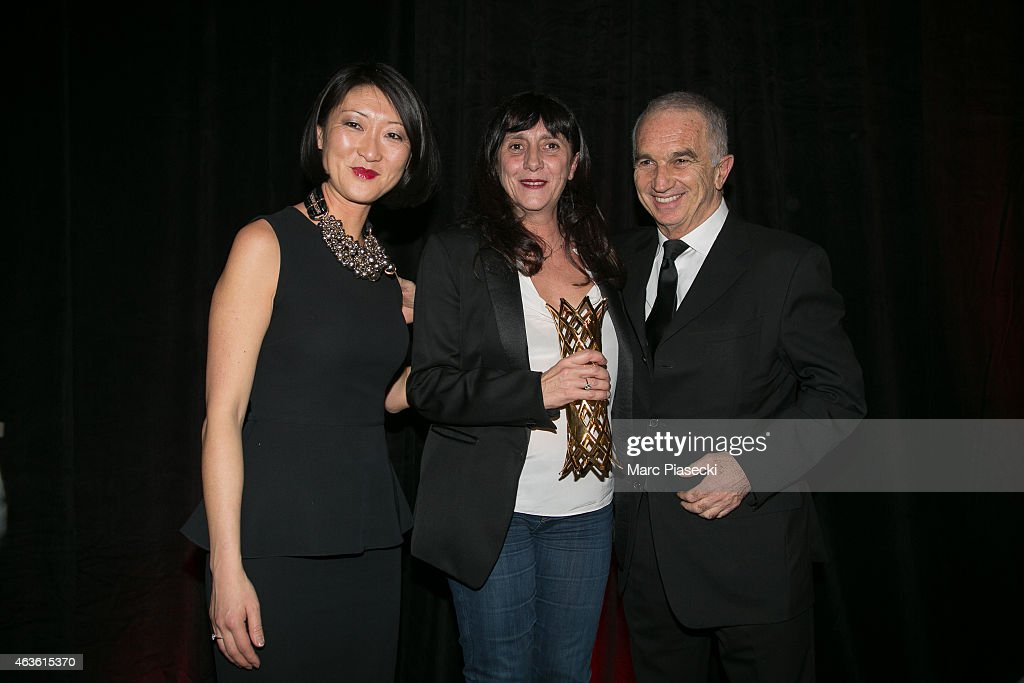 French minister of Culture and Communication <a gi-track='captionPersonalityLinkClicked' href=/galleries/search?phrase=Fleur+Pellerin&family=editorial&specificpeople=8784076 ng-click='$event.stopPropagation()'>Fleur Pellerin</a>, Winner of the price for the movie 'Timbuktu' and widow of director <a gi-track='captionPersonalityLinkClicked' href=/galleries/search?phrase=Maurice+Pialat&family=editorial&specificpeople=3272910 ng-click='$event.stopPropagation()'>Maurice Pialat</a>, <a gi-track='captionPersonalityLinkClicked' href=/galleries/search?phrase=Sylvie+Pialat&family=editorial&specificpeople=3275992 ng-click='$event.stopPropagation()'>Sylvie Pialat</a> and Cesar Academy President <a gi-track='captionPersonalityLinkClicked' href=/galleries/search?phrase=Alain+Terzian&family=editorial&specificpeople=2455092 ng-click='$event.stopPropagation()'>Alain Terzian</a> attend the 'Daniel Toscan du Plantier 8th Producer's Price - Cesar Film Awards 2015'. Held at Hotel George V on February 16, 2015 in Paris, France.