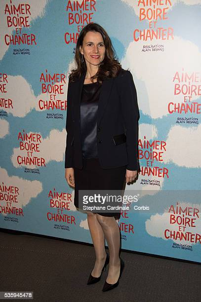 French Minister of Culture Aurelie Filippetti attends the premiere of 'Aimer Boire et Chanter' in Paris