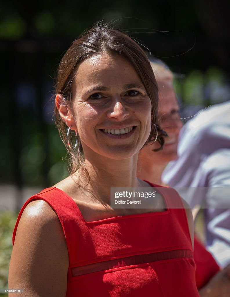 French Minister Of Culture <a gi-track='captionPersonalityLinkClicked' href=/galleries/search?phrase=Aurelie+Filippetti&family=editorial&specificpeople=4273748 ng-click='$event.stopPropagation()'>Aurelie Filippetti</a> visits Fondation Maeght exhibition as part of Festival Des Nuits du Sud at Fondation Maeght on July 27, 2013 in Saint-Paul-De-Vence, France.