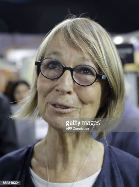 French Minister of Culture de Françoise Nyssen attends the 24th edition of the 'Salon du livre francophone de Beyrouth' on November 3 2017 in Beirut...