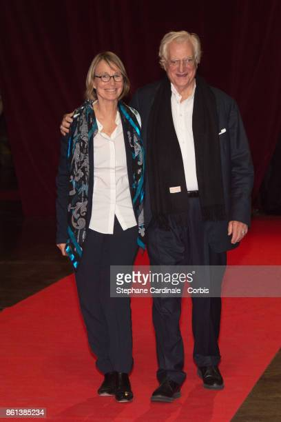 French Minister of Culture Francoise Nyssen and director Bertrand Tavernier attend the Opening Ceremony of the 9th Film Festival Lumiere on October...