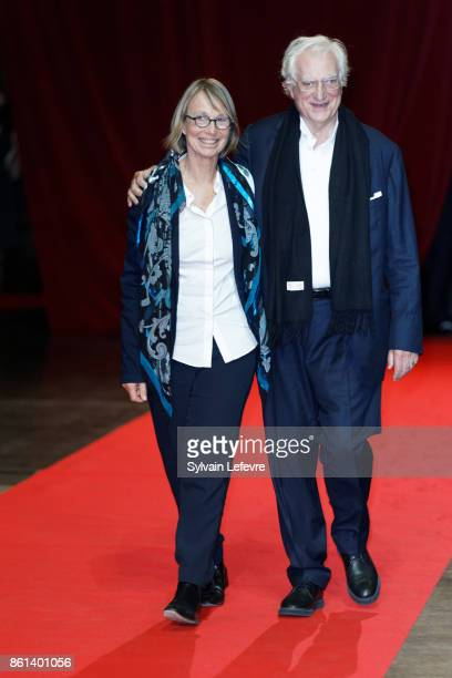 French Minister of Culture Francoise Nyssen and director Bertrand Tavernier attend opening ceremony of 9th Film Festival Lumiere In Lyon on October...