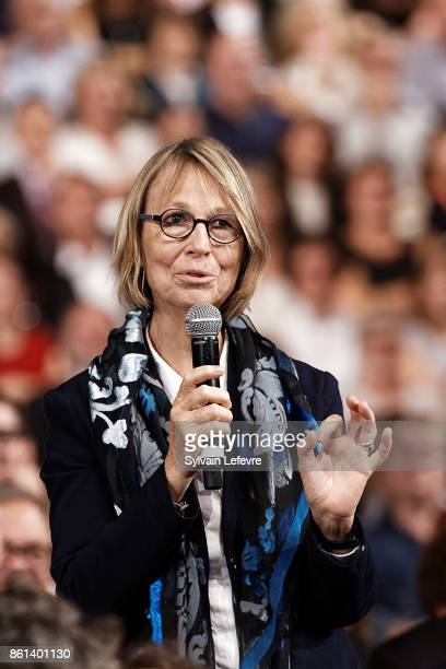 French Minister of Culture Francoise Nyssen attends opening ceremony of 9th Film Festival Lumiere In Lyon on October 14 2017 in Lyon France