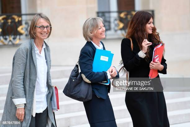French Minister of Culture Francoise Nyssen French Minister of State for Disabled People Sophie Cluzel and French Minister of State for Gender...