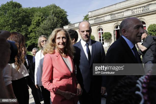 French Minister of Culture Francoise Nyssen Justice Minister Nicole Belloubet Minister of National Education JeanMichel Blanquer and Minister of the...