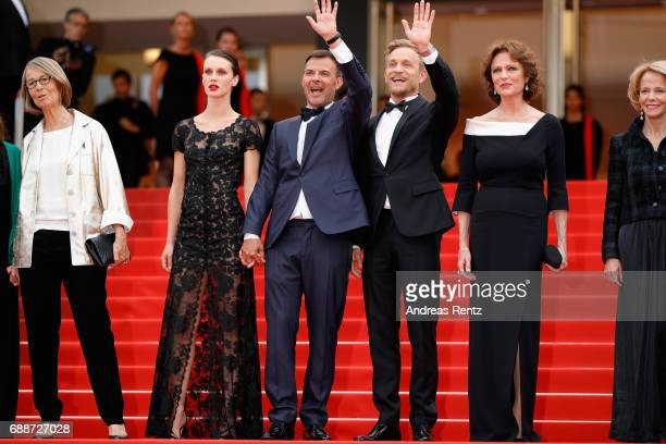 French minister of Culture Francoise Nyssen Marine Vacth director Francois Ozon Jeremie Renier Jacqueline Bisset and President of the CNC Frederique...