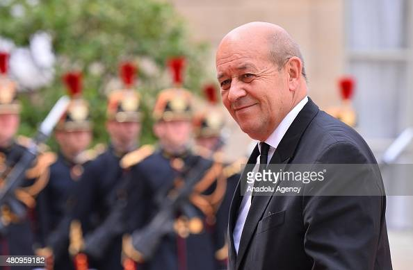French Minister of Defence JeanYves Le Drian arrives Elysee Palace for a meeting French President Francois Hollande and Mexican President Enrique...